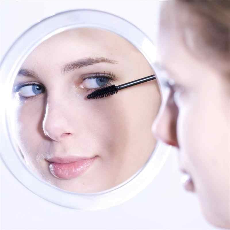RUIMIO 10x увеличительное круглое зеркало для макияжа складное карманное зеркало увеличение компактное зеркало с 3 присосками 5,9 дюйма