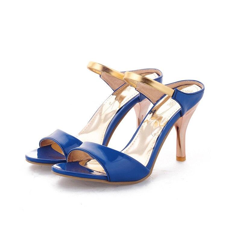 Sandalias Mujer New fashion Big Plus Size Shoes Women Sandals 2017 High Heels Sapato Feminino Summer Style Chaussure Femme X-1 women sandals 2015 women shoes sandalias buckle strap hollow side high thin heels plus size summer style cheap modest