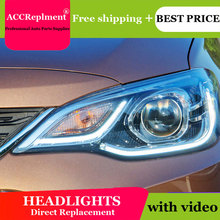 car styling For Chevrolet Cavalier headlight angel eyes 2016-2018 For Cavalier LED light bar Q5 bi xenon lens h7 xenon day light цена в Москве и Питере