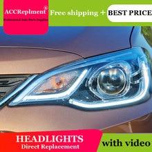 цена на car styling For Chevrolet Cavalier headlight angel eyes 2016-2018 For Cavalier LED light bar Q5 bi xenon lens h7 xenon day light
