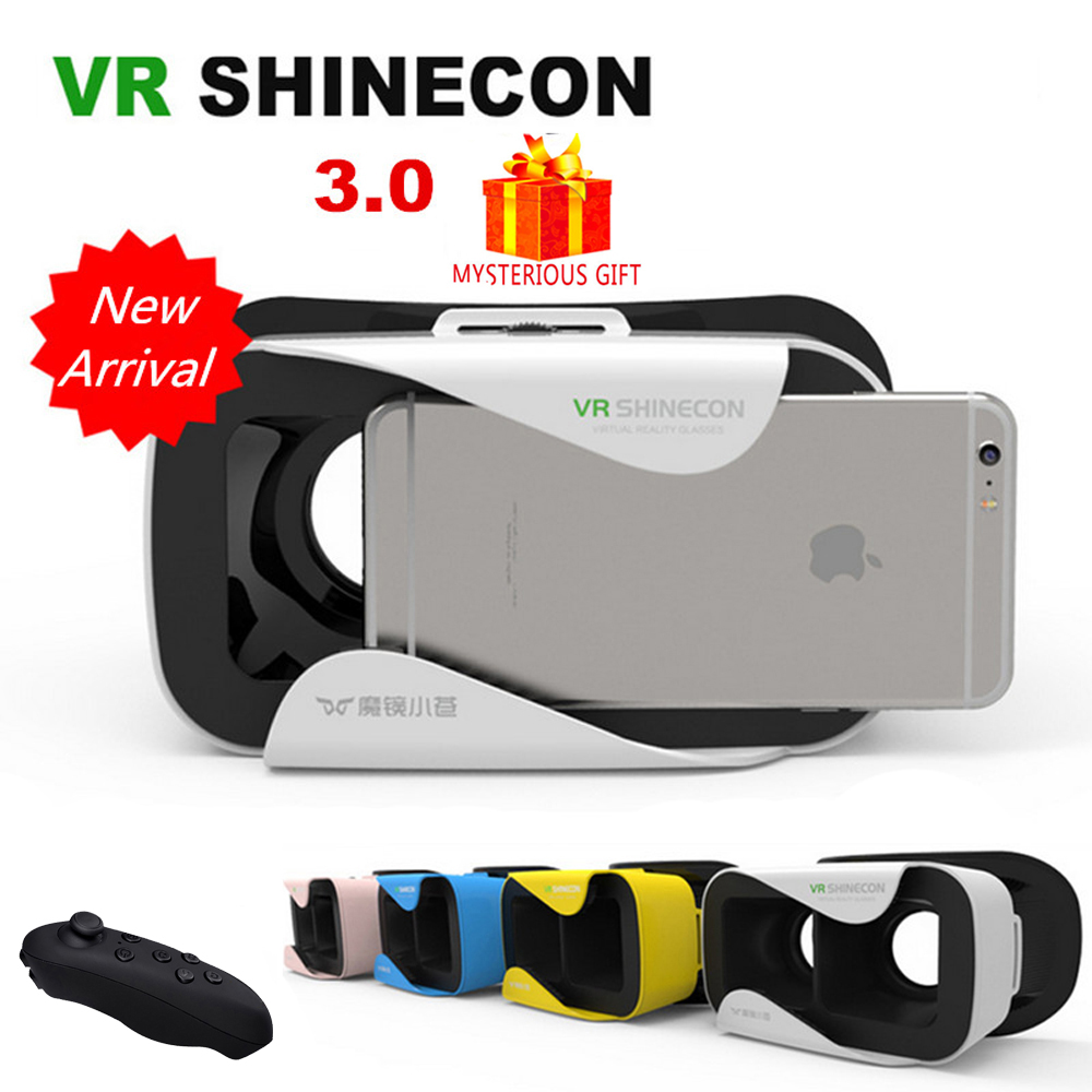 VR Shinecon 3.0 III Box Headset Video 3 D 3D Virtual Reality Glasses Goggles Smartphone Helmet Smart Lens Vrbox Google Cardboard
