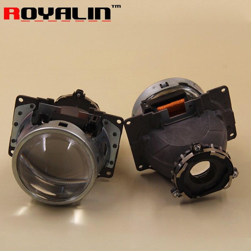 ROYALIN para Koito Q5 Bi xenon proyector de Metal linterna 3 pulgadas para D1S D2S D3S D4S bombillas Car Styling Retrofit lente de la lámpara