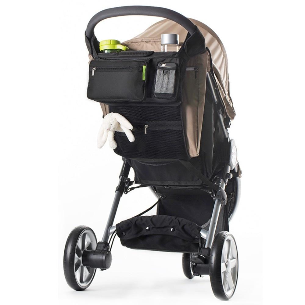 Das Beste Thinkthendo Universal Baby Kinderwagen Organizer Extra Großen Stauraum Für Mom Nylon Mumie Reise Windel Taschen