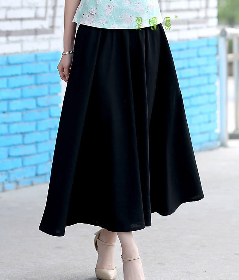 Compare Prices on Black Linen Maxi Skirt- Online Shopping/Buy Low ...