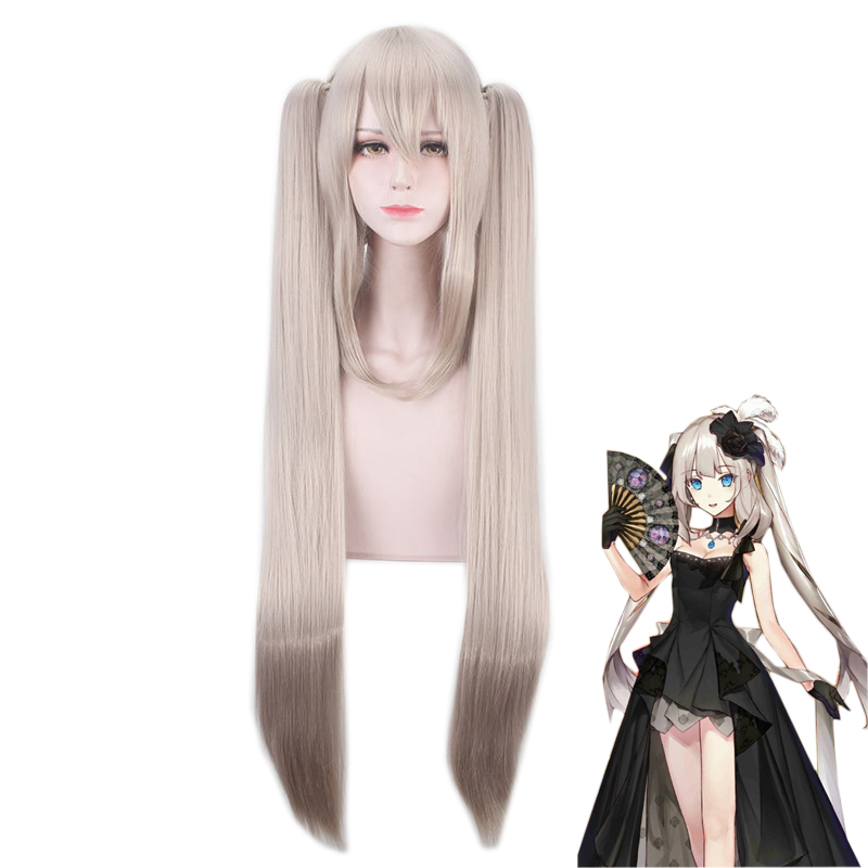 Fate Grand Order Marie Antoinette Women Ponytails Long Straight Wig Cosplay Costume FGO Heat Resistant Synthetic Hair Party Wigs