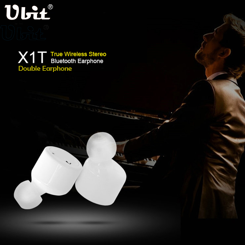 Ubit X1T Twins True Wireless Bluetooth Earphone Smart Mini Double In-Ear Stereo Music Earphones Earbuds With MIC Voice Prompt 6 colors mini wireless bluetooth v4 0 earphone q3 in ear stereo voice control earphone call music