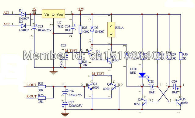 US $13 0 |pcb board only lm3886 2 0 amp power amplifier ne5532 preamp  filter circuit speaker protection professional preamp and rear-in Amplifier  from