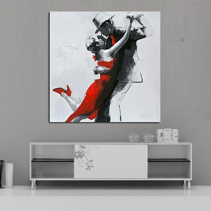 2a02e5dd9cd ⓪Peint à la main Abstraite Mur Photos Résumé Danse Lovers Art ...