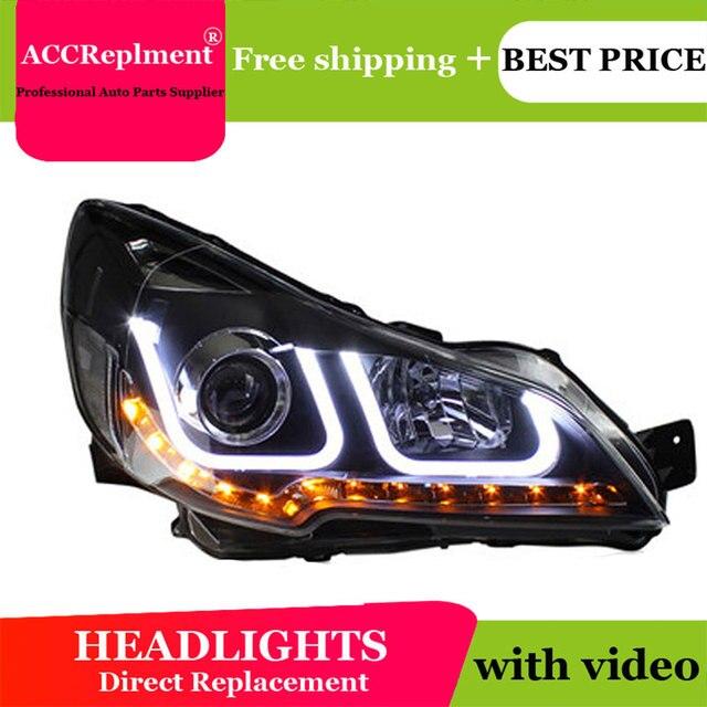 רכב סטיילינג עבור פנסי ערבה אאוטבק LED פנס DRL עדשה כפולה קרן H7 HID קסנון bi קסנון עדשה