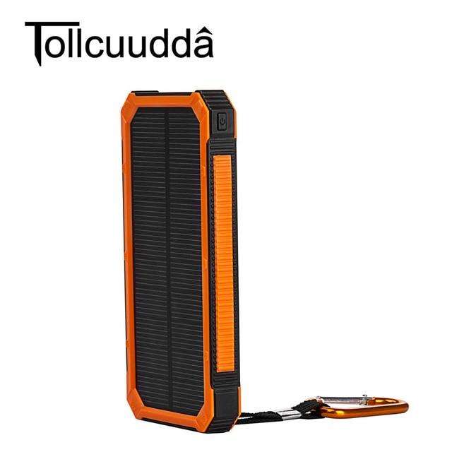 10000 мАч солнечное зарядное устройство 2 порта usb solar power bank bateria наружный портативное зарядное устройство для смартфонов для xiaomi для iphone