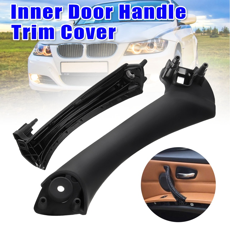 New Car Inner Door Panel Handle Pull Trim Cover For BMW E90 E91 3 Series 51417230850 Car Inner Door Handle Armrest Cover Shell image