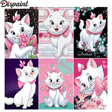 Dispaint Full Square/Round Drill 5D DIY Diamond Painting Cartoon cat flower 3D Embroidery Cross Stitch 5D Home Decor Gift цена