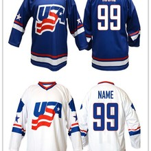 fcf1a9d600c Vintage Team USA WHITE Hockey Jersey Embroidery Stitched Customize any  number and name Jerseys(China