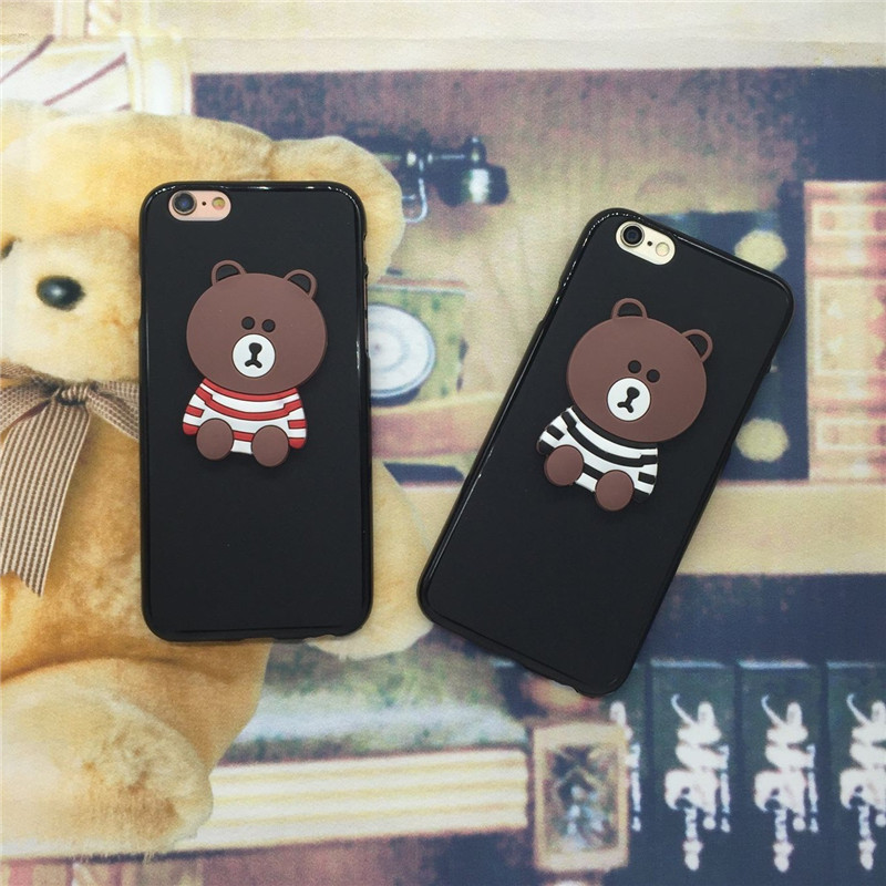 Cartoon Bear Phone Case Covers for Google Pixel 2 XL / Pixel XL 2 Soft TPU Back Cover Original Black Coque Funda Para Shell