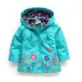 Бесплатная доставка продажа новый 2014 детская одежда весна осень куртка девушка ветровка детский плащ ребенка кардиган пальто
