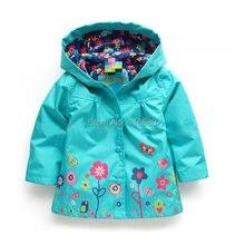 Бесплатная доставка продажа новый 2014 детская одежда весна осень куртка девушка ветровка детский плащ ребенка кардиган пальто(China (Mainland))