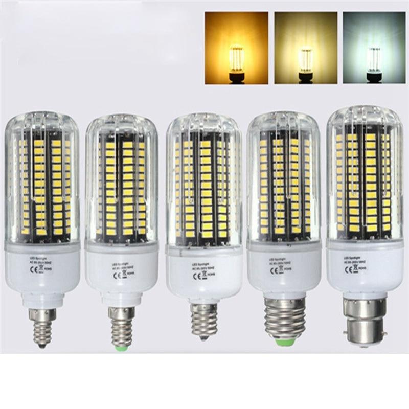 18W 5736SMD 140 LED Lamp Bulb E27/E14/E12/E17/B22 LED Corn Light Bulb 85-265V Chandelier Lighting Pure Natural Warm White 1800lm 2pcs real full watt 3w 5w 7w 8w 12w 15w e27 e14 led corn bulb 85v 265v smd 5736 led lamp spot light 28 40 72 108 132 156 leds