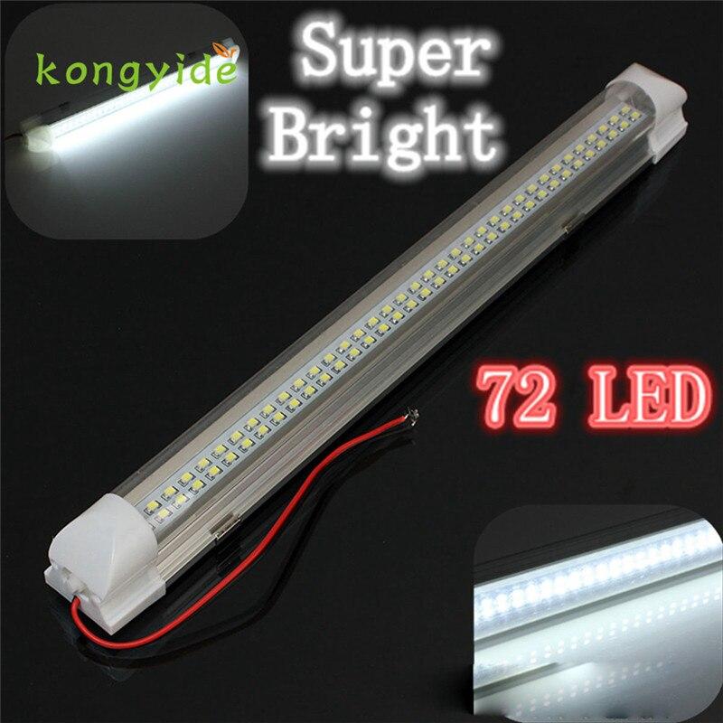 1х 12В 72 LED интерьер автомобиля белый свет газа бар Лампа Ван Караван на Выключатель новый горячий стиль мода падение доставка 17augu1