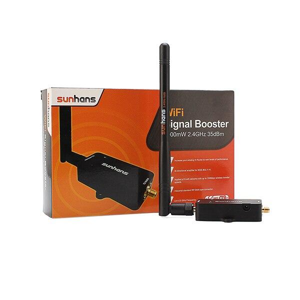 2 шт. Подлинная SH24BTA-N11N Sunhans WI-FI Ретранслятор 2.4 ГГц 34DBi поддержка 802.11n/b/g Продлить 3 Вт питания диапазон усилитель сигнала Усилителя