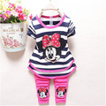 Spring/Autumn cartoon Baby Girl Clothing Set T-shirt+Pants babi Girls Casual kids girls clothing set free shipping
