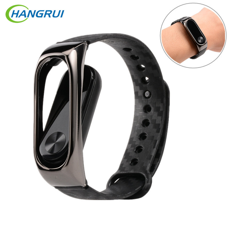 все цены на HANGRUI Mi Band 3 strap For Xiaomi mi band 2 silicone strap smart bracelet Miband 3 accessories Replacement sport Wrist band онлайн