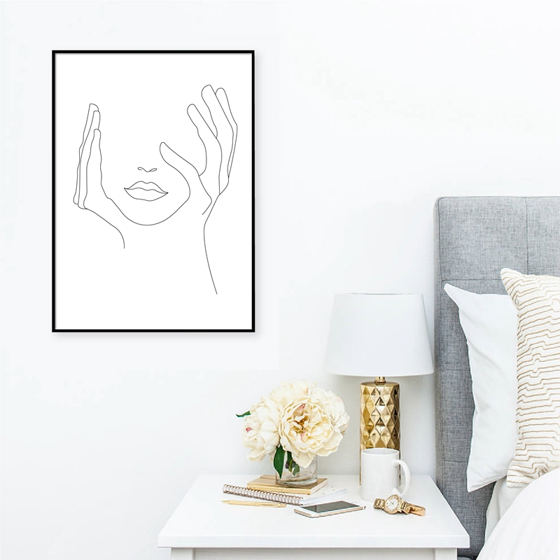 Hands On Face Wall Art Print