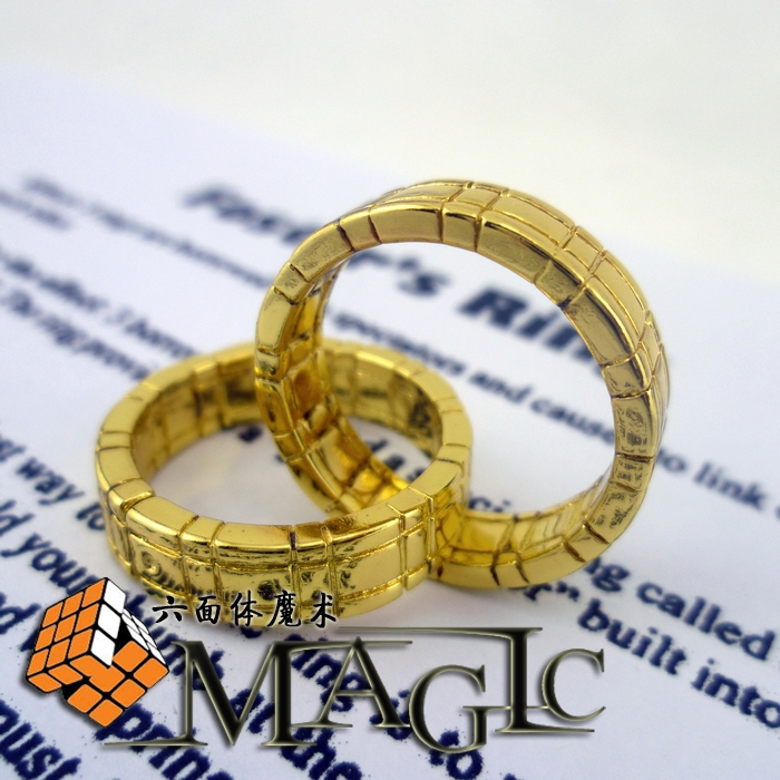 Gold Himber Ring Cool Style Stage Close-Up ring Magic Tricks products - wholesale / free shipping