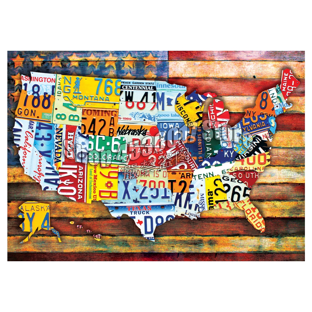 Road Trip USA 5d Diy Diamond Mosaic Diamond Painting Cross Stitch Diamond Embroidery Patriotic Americana Rhinestone Decoration image