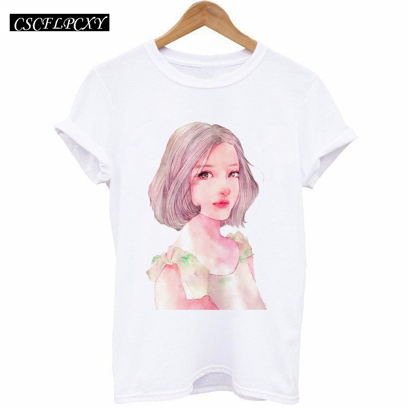 HTB1apqdlh6I8KJjy0Fgq6xXzVXav - 2017 Casual T-shirt Women Tshirt Short Sleeve Kawaii Elephant Print Camisetas Mujer Tops Tee Shirt Female O-neck White Tees