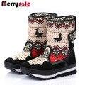 2016 hombres y mujeres de moda niño niños botas botas de algodón botas de nieve botas de invierno zapatos