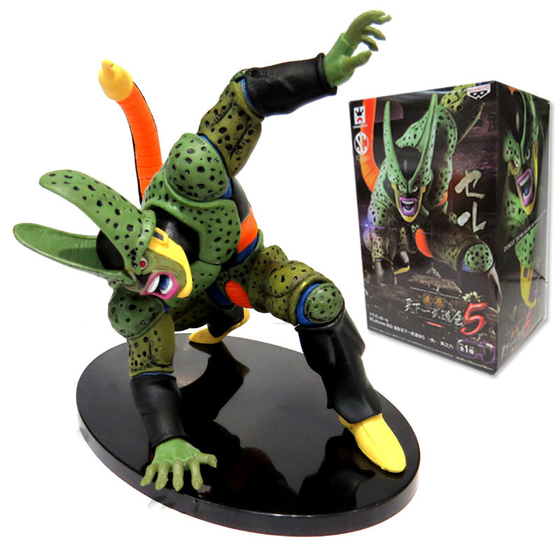 15cm Anime Dragon Ball Cell Figures Toys Dragon Ball Z Super Cell PVC Action Figure Collectible Model Toy With Retail Box avengers movie hulk pvc action figures collectible toy 1230cm retail box