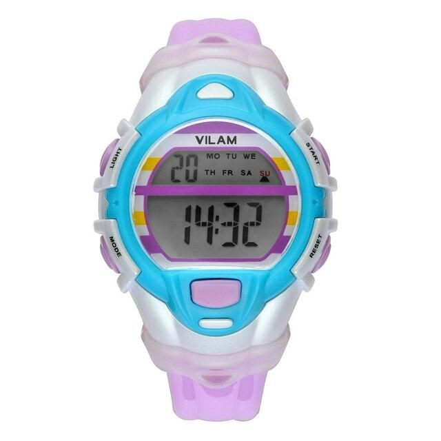 VILAM Fashion Children Kids Watches Time Digital Quartz Multifunctional 50m Water Resistant Dive Student Sports Girls Boys Watch
