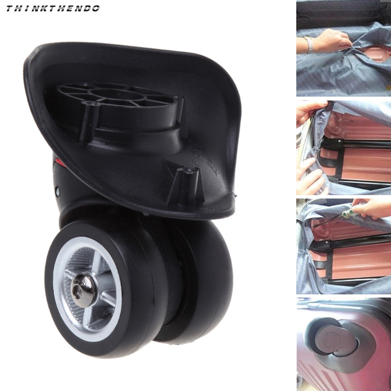 THINKTHENDO Hot New 2 Pcs Suitcase Luggage Accessories Universal 360 Degree Swivel Wheels Trolley Wheel High Quality 2018