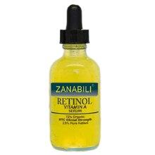 Zanabili pure retinol vitamina a 2.5% + ácido hialurônico acne remoção da cicatriz manchas soro facial anti rugas clareamento creme facial