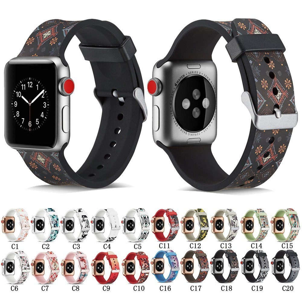 New Brand Silicone Sports Band Colorful Wrist Strap 38 44mm For Apple Watch Bands 42mm Bracelet Iwatch Series 4 3 2 1 Watchbands