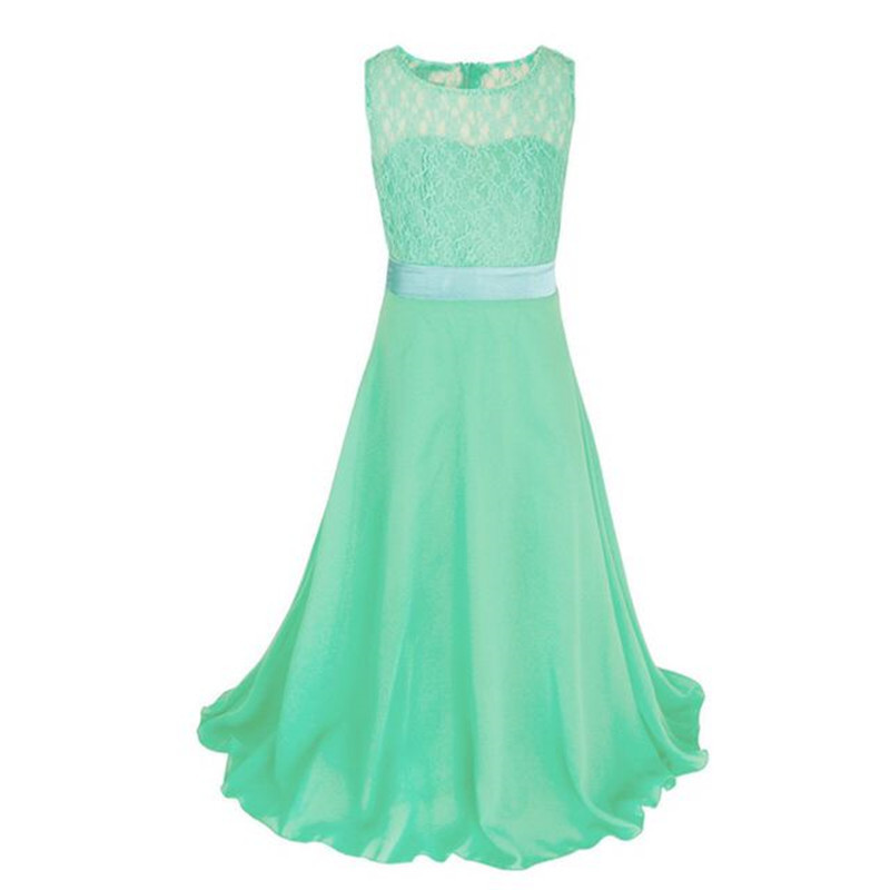 Chinese 2019 Teen Girl Lace Net Neck Party Wear Frocks