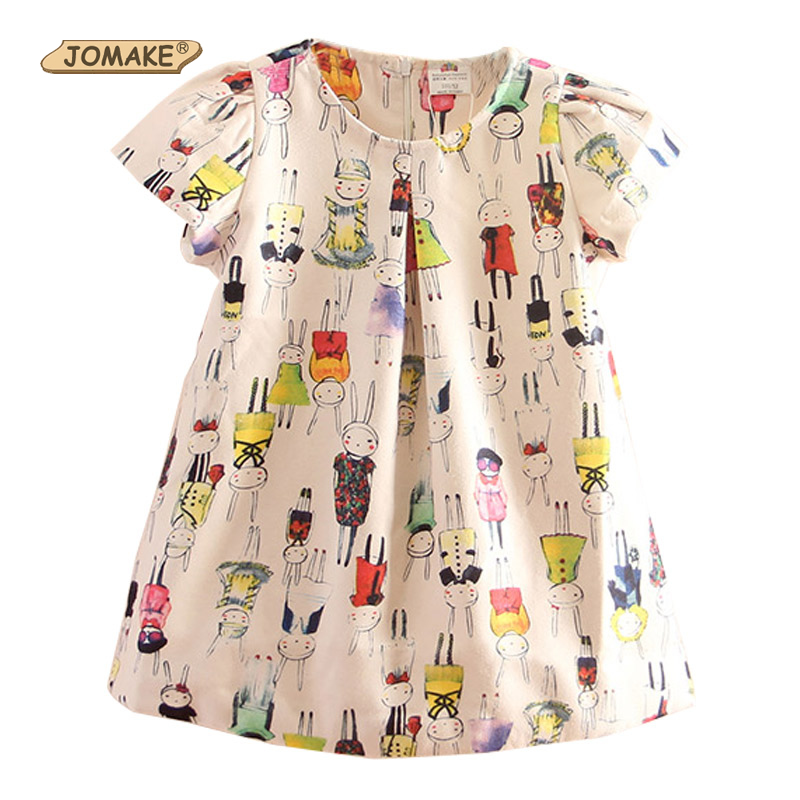 Fall New Arrival Girls Dress High Quality Fashion Brand Children Clothing Kids Clothes Baby Girl Cartoon Rabbits Printing Dress 2017 new fall mustard yellow children sets ruffle butterfly sleeves infants clothing baby girl nursing accessory apparel