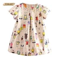 Fall New Arrival Girls Dress High Quality Fashion Brand Children Clothing Kids Clothes Baby Girl Cartoon Rabbits Printing Dress
