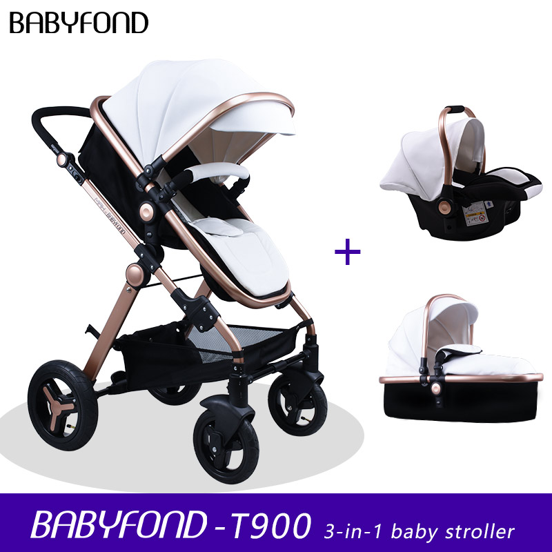 Fast Ship ! 2019 New Colors  Baby Stroller 3 In 1 Baby Car Seat   Folding Baby Carriage  With Baby Comfort