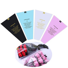 Bag Wrapping-Paper Florist-Supplies Flower Single-Rose-Bag Print Transparent 7color Bouquet