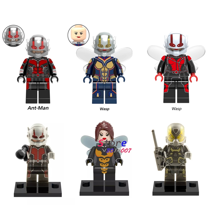 Single Marvel Avengers Infinity War Thor Ant-Man And The Wasp Yellowjacket Scarlet Witch  Building Blocks Toy For Children