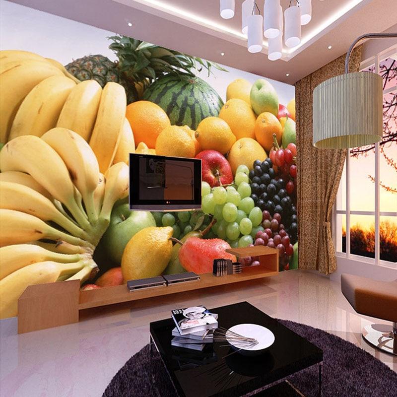 Kitchen Wall Decor Vegetables : Custom d photo wallpaper fruits vegetables decor painting