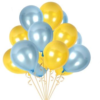 Oro Blu 10 pz/lotto 10 pollici 1.8g Palloncino In Lattice Palle Gonfiabile Decorazione Della Festa Nuziale Di Compleanno Del Partito Del Capretto di Aria Galleggiante palloncino Giocattolo