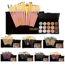 15 Colors Contour Face Cream Makeup Concealer Palette+20Pcs Brushes Eye Shadow Blush Powder Eyeliner Lip Eyebrow Brushes