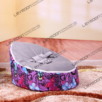 FRETE GRÁTIS tampa de assento do saco de feijão bebê com 2 pcs cinza up bebê tampa do saco de feijão sofá da tela cadeira de bebê cadeira do saco de feijão