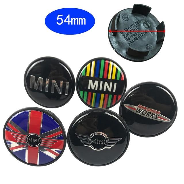 20pcs/lot 54mm Car logo badge Emblem Rims Wheel Hub Center caps label For Mini R50 R52 R55 R56 R57 R58 R59 R60 R61 Car Covers
