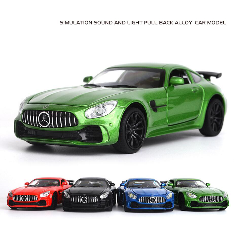 Hot wheels scale 1:32 diecast super sports cars Benz GT metal model with light sound pull back alloy toys collection ...