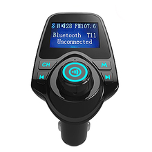 T11 car mp3 player bluetooth fm transmitter handsfree Car Kit FM Transmitter receiver USB Charger LCD