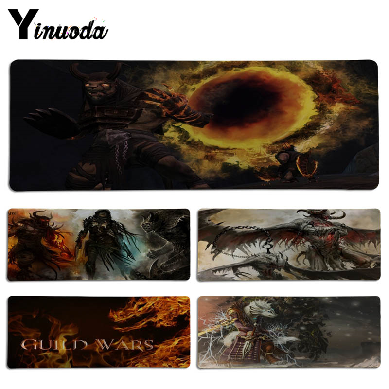 Yinuoda New Arrivals Game Guild Wars 2 DIY Design Pattern Game Lockedge mousepad Size for 30*70cm and 30*90cmGame Mousepad