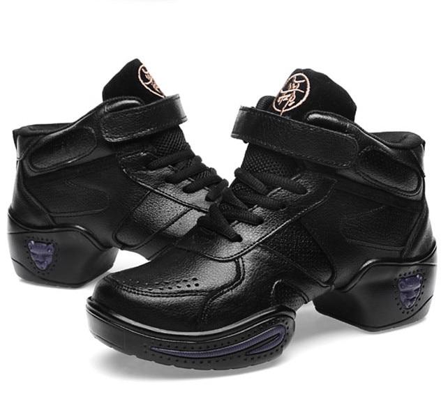 ad31c858 Respirables de cuero auténtico para hombre moderno zapatillas de deporte  zapatos de baile zapatos de Jazz